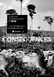 Cartel exposición Consecuences by Noor en Amsterdam