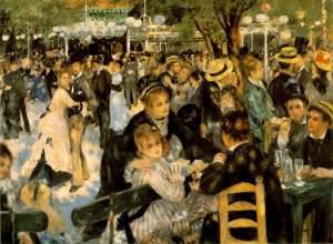"""""""Le Bal au Moulin de la Galette"""",Renoir, Museo de Orsay, París."""