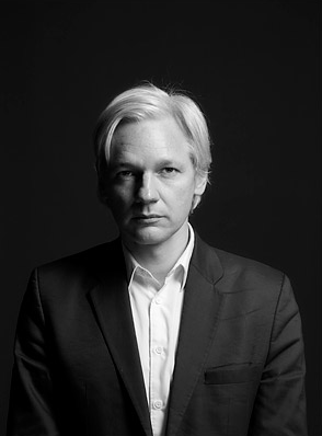 Julian Assange by Kate Peters for Time