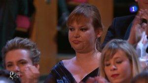La cara de Leire Pajín en los Goya 2011