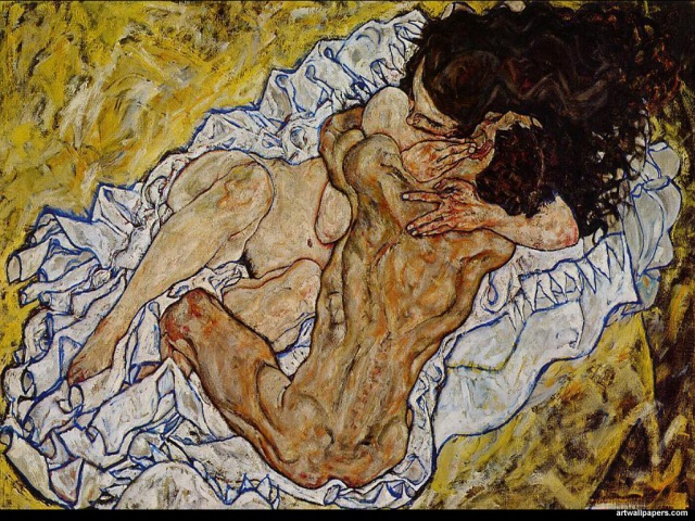 The Kiss, Egon Schiele