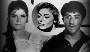"Katherine Ross, Anne Bancroft y Dustin Hoffman en ""El Graduado"""