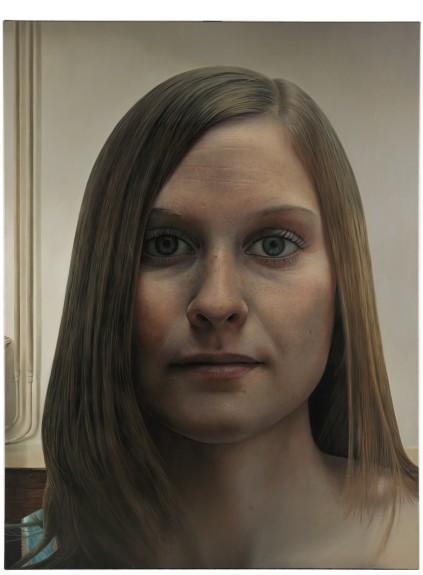 Enrique Collar, Chica con pecas, oleo sobre lienzo (200x150)