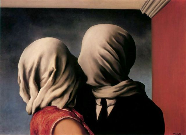 Los amantes, Magritte