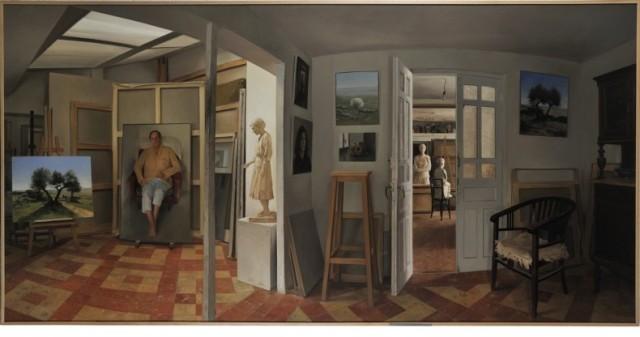 Juan Moreno Aguado, Taller, oleo sobre lienzo (150x300)(Mención de Honor)