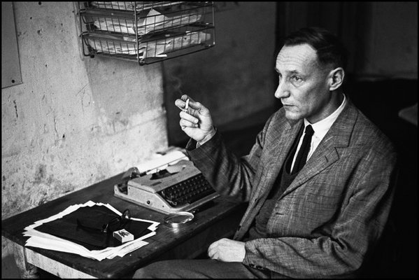 PARIS—American writer William Burroughs, living at the Hotel Du Vieux Paris, Rue Git, 1970. © Nicolas Tikhomiroff / Magnum Photos