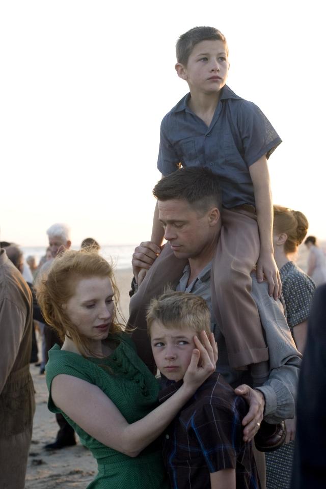 Brad Pitt y Jessica Chastain protagonizan el fil de Terrence Malick