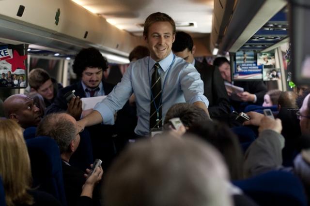 Ryan Gosling en un fotograba de la película 'Los idus de marzo'